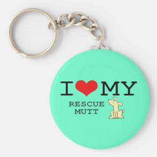 Porte-clés J'aime mon porte - clé de chien de délivrance