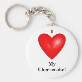 Porte-clés J'aime mon porte - clé de gâteau au fromage