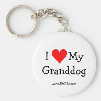Porte-clés J'aime mon porte - clé de Granddog