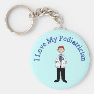 Porte-clés J'aime mon porte - clé de pédiatre