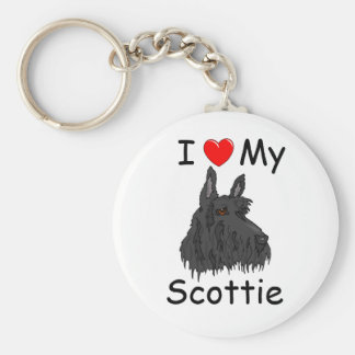 Porte-clés J'aime mon porte - clé de Scottie