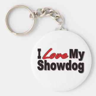 Porte-clés J'aime mon porte - clé de Showdog