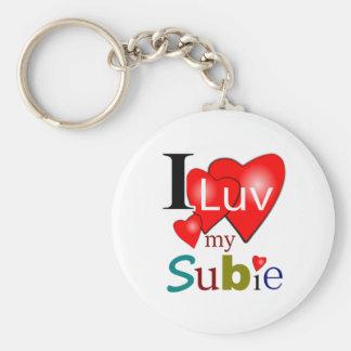Porte-clés J'aime mon porte - clé de Subie
