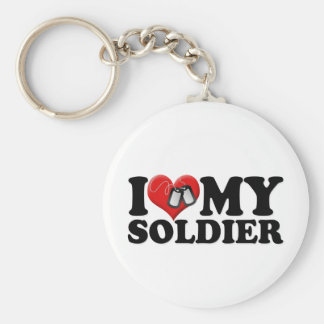 Porte-clés J'aime mon soldat