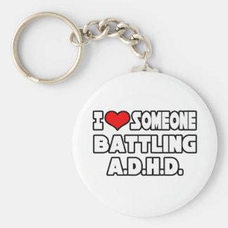 Porte-clés J'aime quelqu'un A.D.H.D de lutte