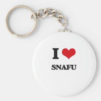 Porte-clés J'aime Snafu