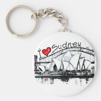 Porte-clés J'aime Sydney