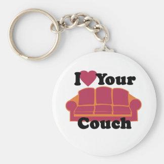 Porte-clés J'aime votre divan