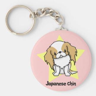 Porte-clés Japonais rouge Chin d'étoile de Kawaii
