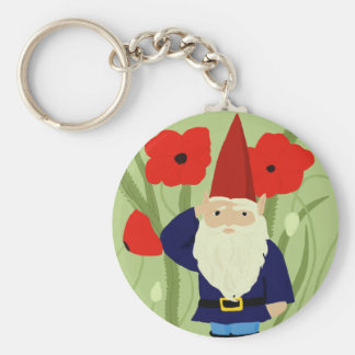 Porte-clés Jardin de porte - clé de gnome de souvenir