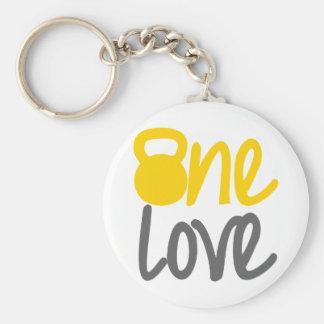"Porte-clés Jaune ""un amour"" Kettlebell"