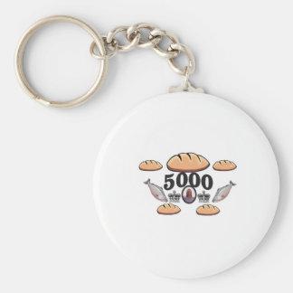 Porte-clés JC alimente 5000 âmes