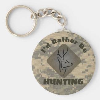 Porte-clés Je chasserais plutôt pour des chasseurs