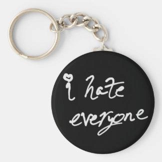 Porte-clés Je déteste chacun porte - clé
