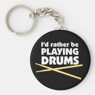Porte-clés Je jouerais plutôt le porte - clé de tambours