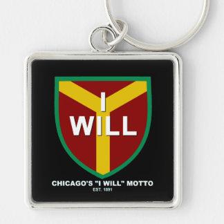 """Porte-clés """"Je"""" la devise, slogan de Chicago, IL"""