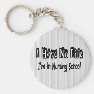 Porte-clés Je n'ai aucune école d'infirmières drôle de la vie
