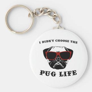 Porte-clés Je n'ai pas choisi le chien de cool de la vie de