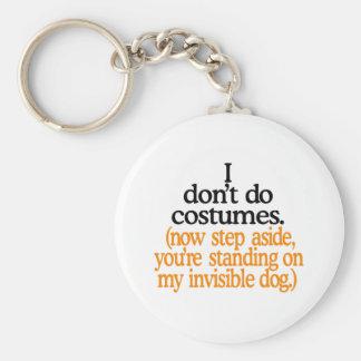Porte-clés Je ne fais pas des costumes