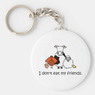 Porte-clés Je ne mange pas mes amis