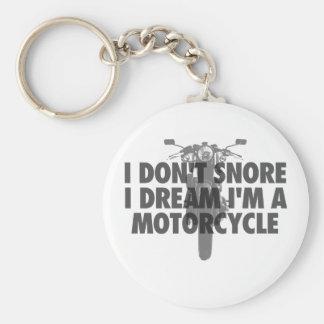 Porte-clés Je ne ronfle pas rêve d'I que je suis une moto