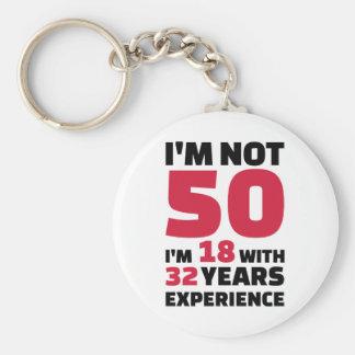 Porte-clés Je ne suis pas de 50 ans d'anniversaire