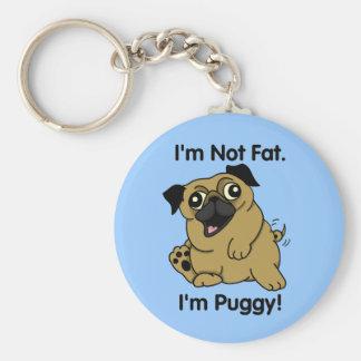 Porte-clés Je ne suis pas gros. Je suis Puggy. Carlin mignon