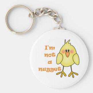 Porte-clés Je ne suis pas un végétalien de pépite/porte - clé