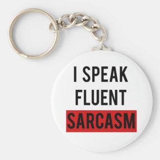 Porte-clés Je parle le sarcasme fluide