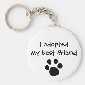 """Porte-clés """"Je porte - clé ai adopté mon meilleur ami"""" par"""