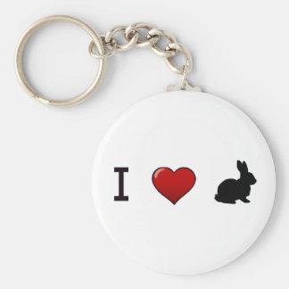 """Porte-clés """"Je porte - clé aime lapins"""""""
