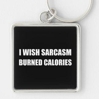 Porte-clés Je souhaite des calories brûlées par sarcasme