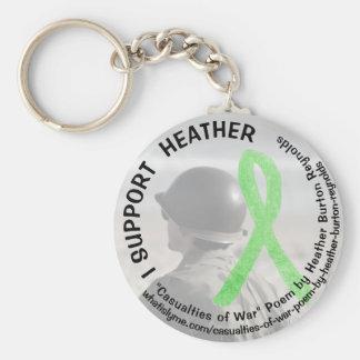 Porte-clés Je soutiens Heather, porte - clé de militaires de