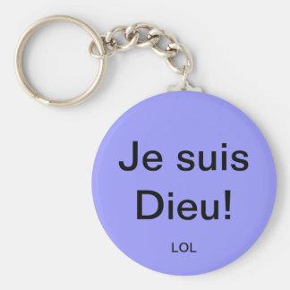Porte-clés Je suis Dieu!