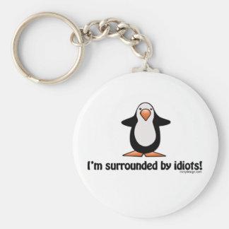 Porte-clés Je suis entouré par le porte - clé d'idiots