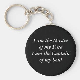 Porte-clés Je suis le maître de mon FateI AM le capitaine de