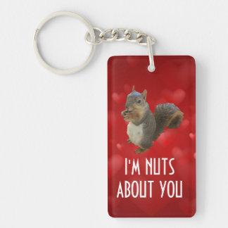 Porte-clés Je suis Nuts au sujet de vous écureuil de Brown
