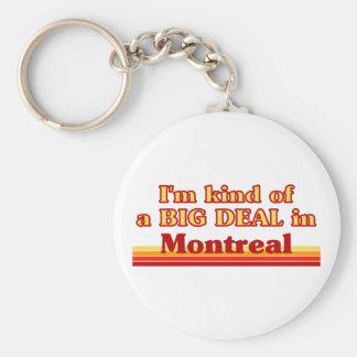 Porte-clés Je suis un peu une affaire à Montréal