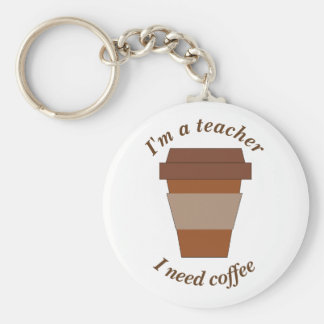Porte-clés Je suis un professeur. J'ai besoin de café