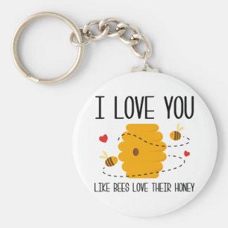 Porte-clés Je t'aime
