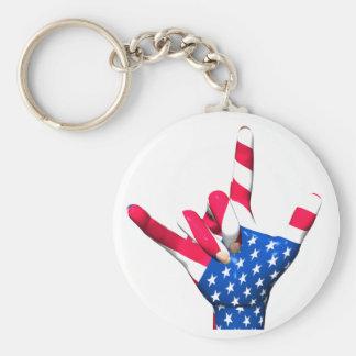 Porte-clés Je t'aime porte - clé de drapeau des Etats-Unis