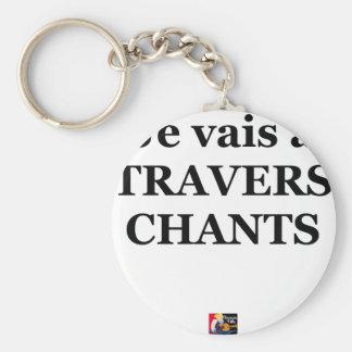 Porte-clés Je vais à TRAVERS CHANTS - Jeux de Mots