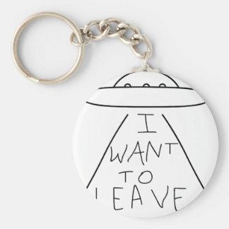 Porte-clés je veux partir