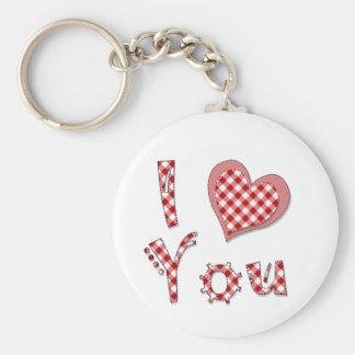 Porte-clés Je vous aime (coeur) porte - clé