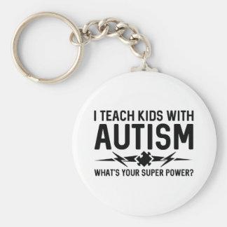 Porte-clés J'enseigne des enfants avec l'autisme