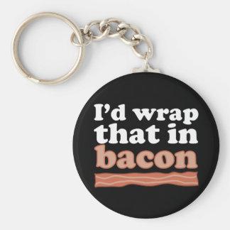 Porte-clés J'envelopperais cela dans le porte - clé de lard