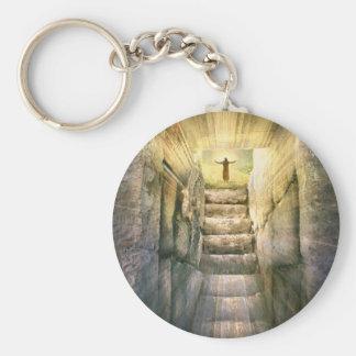 Porte-clés Jésus à la résurrection vide de Pâques de tombe