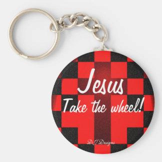 Porte-clés Jésus prennent le porte - clé de roue