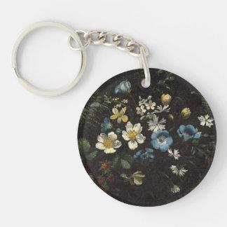 Porte-clés Jet des fleurs et des fougères par Titian Ramsay