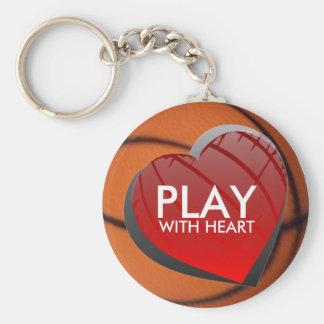 Porte-clés Jeu avec le porte - clé de basket-ball de coeur